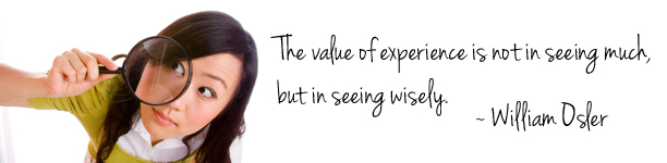 The value in seeing